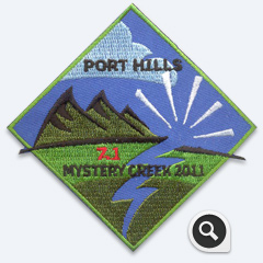 Port Hills Mystery Creek Badge